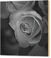 Love Letter Bw Wood Print