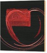 Love Letter Fine Fractal Art Wood Print by Georgeta  Blanaru