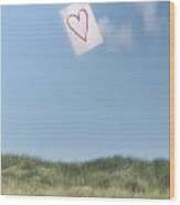Love Letter From Cloud 9 Wood Print