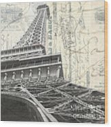 Love Letter From Paris Square Wood Print