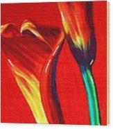 Love Lilies Wood Print