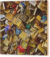 Love Locks Eternal Wood Print