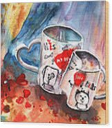 Love Mugs Wood Print