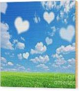 Love Nature Background Wood Print