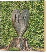Love Ny Wood Print