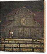 Love Of Country Vintage Art By Jordan Blackstone Wood Print by Jordan Blackstone