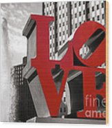 Love Wood Print by Olivier Le Queinec