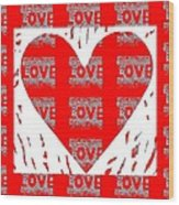Love On Love Wood Print
