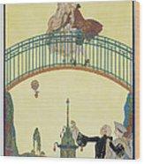 Love On The Bridge Wood Print