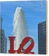 Love Park Wood Print by Olivier Le Queinec