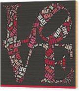Love Quatro Heart - S111b Wood Print