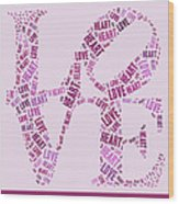 Love Quatro - Heart - S44b Wood Print