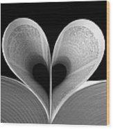 Love Reading Wood Print