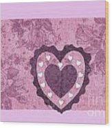 Love Series Collage - Heart 2 Wood Print