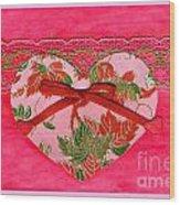 Love Series Collage - Heart 8 Wood Print