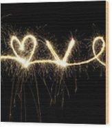 Love Shines Brightly Wood Print