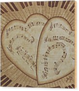 Love Song Of Our Hearts Wood Print
