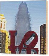 Love Statue In Philadelphia Pa Wood Print