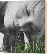 Love The Bunny Wood Print