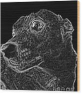 Love The Concern Pet Dog Rendering Wood Print