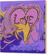Love Triumphant Wood Print by Kenneth James