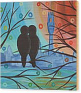 Lovebirds In P-town Wood Print