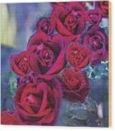 Loveflower Roses Wood Print