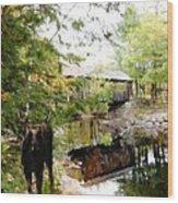 Lovejoy Covered Bridge And Moose Wood Print