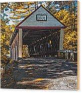 Lovejoy Covered Bridge Wood Print by Bob Orsillo