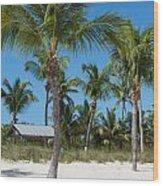 Lovely Beach On Key West East Side Wood Print