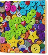 Lovely Buttons Wood Print