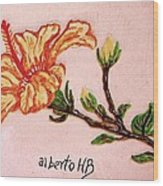 Lovely Hibiscus Wood Print