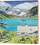 Lovely Lake Louise Wood Print