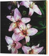 Lovely Lilies Wood Print