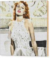 Lovely Rita Wood Print