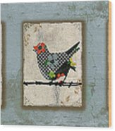 Lovely Song Bird Trio -1 Wood Print