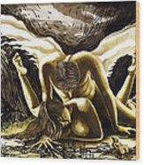 Lovers   Wood Print