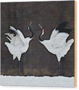 Lovers Wood Print
