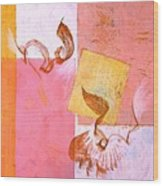 Lovers Dance 2 In Sienna And Pink  Wood Print
