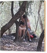 Lovers In Athens Wood Print