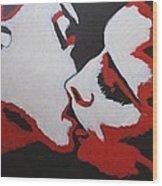 Lovers - Kiss 8 Wood Print