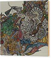 Lovers Wood Print by Nickolas Kossup