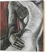 Lovers - The Kiss1-rodin Wood Print