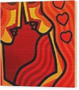 Lovers Vi Wood Print
