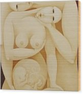 Lovers With Fetus 2006 Wood Print