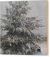 Loves Snow Wood Print