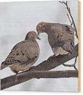Lovey Dovey Wood Print