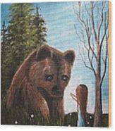 Loving All God's Creatures By Shawna Erback Wood Print by Shawna Erback