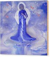 Loving Angel Of Peace Wood Print by Sherri's Of Palm Springs