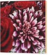 Lovr Flowers Wood Print